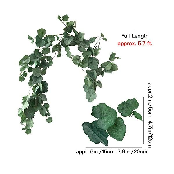 Aisamco-2-Pcs-Artificial-Hanging-Begonia-Leaves-Vines-Twigs-Fake-Silk-Begonia-Plants-Leaves-Garland-String-57-Feet-in-Green-for-Indoor-Outdoor-Wedding-Decor-Greenery-Wreath