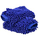 #1: Toplus Car Wash Mitts, 2 PACK Premium Chenille Microfiber Car Wash Sponge Auto Vehicle Care Cleaning Glove for Car SUV Truck Motorcycle - 100% Waterproof Lining, Anti-scratch, Extra Large