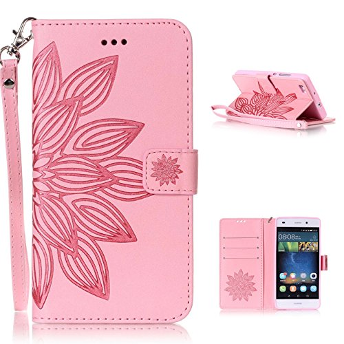 Holder Slim Leather Elegant 2016 Protective Stand Vintage Cover For Lite Pouch Huawei Hancda Magnetic Design Card 2015 Function P8 Skin Wallet H Case Strap Book With Flower Pink Flip Style Cover 4wn0TZqvw