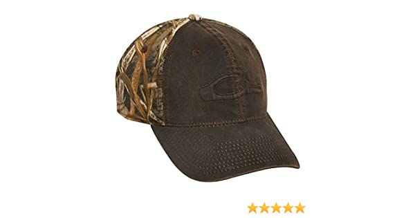 de64cfecf314b5 Drake Waterfowl Waxed Cotton Two-Tone Cap (Realtree Max-5) at Amazon Men's  Clothing store: