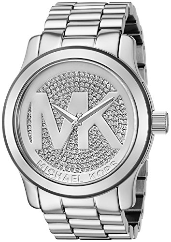 Michael Kors Runway MK Silver Dial Women's Watch - - Michael Silver