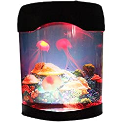 Jellyfish Lava Lamp Aquarium Simulation Background Glowing Night Light Artificial Jellyfish Swimming Tank Color Changing Mood Lighting Best Home Decoration