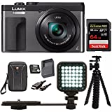 Panasonic DC-ZS70K Lumix 20.3MP, 4K Touch 3″ LCD, 180 Degree Display, Panasonic Battery/Charger Pack Bundle For Sale