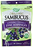 Cheap Natures Way Sambucus Organic Zinc Lozenges with Elderberry and Vitamin C, 24 Count (2 pack)
