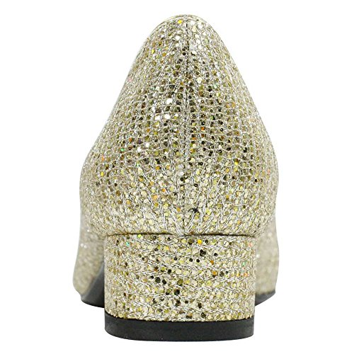 Bambalina Renee Pump Women's Gold Fabric J YwT4UExqY