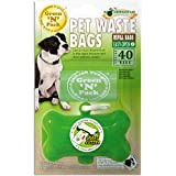 Green N Pack Green Bone Dispenser with 40 Eco-Friendly Refill Bags