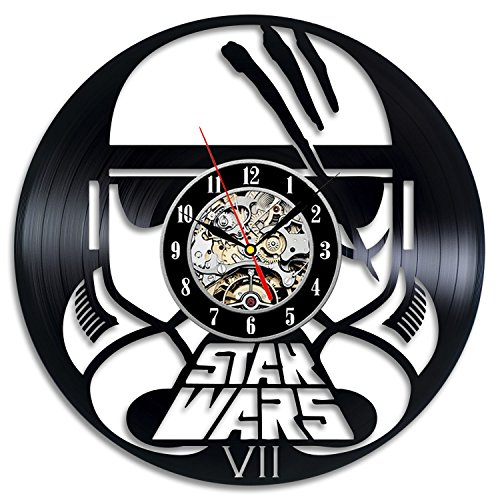 Stormtrooper Star Wars VII Episode Force Avakensgift Vinyl Record Wall Clock Home Decor Art (Buy A Stormtrooper Costume)