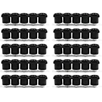 Areyourshop 50 PCs Speakon 4 Pin Female Jack Panel Mount Compatible Audio Cable Adapter