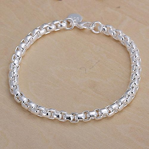 Preciastore 925 Sterling Silver Bracelet and Necklace Sets ZBS058