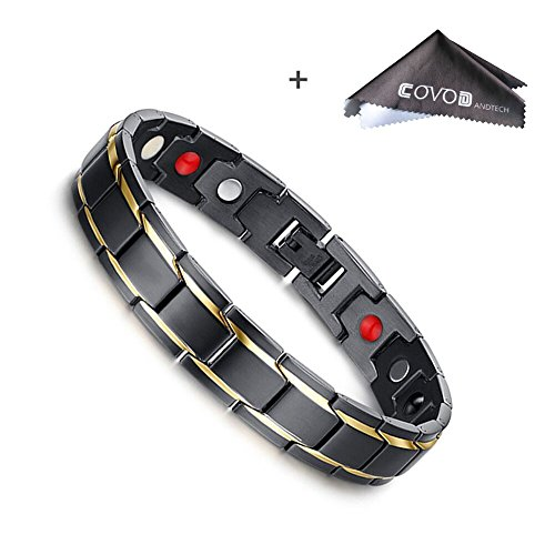 - Titanium Magnetic Therapy Health Bracelet  - 2018 New Pure Row 4 Elements Magnetic Therapy Bracelets (men)