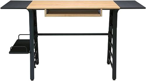 Offex Home Office Ashwood Convertible Desk Ashwood/Graphite
