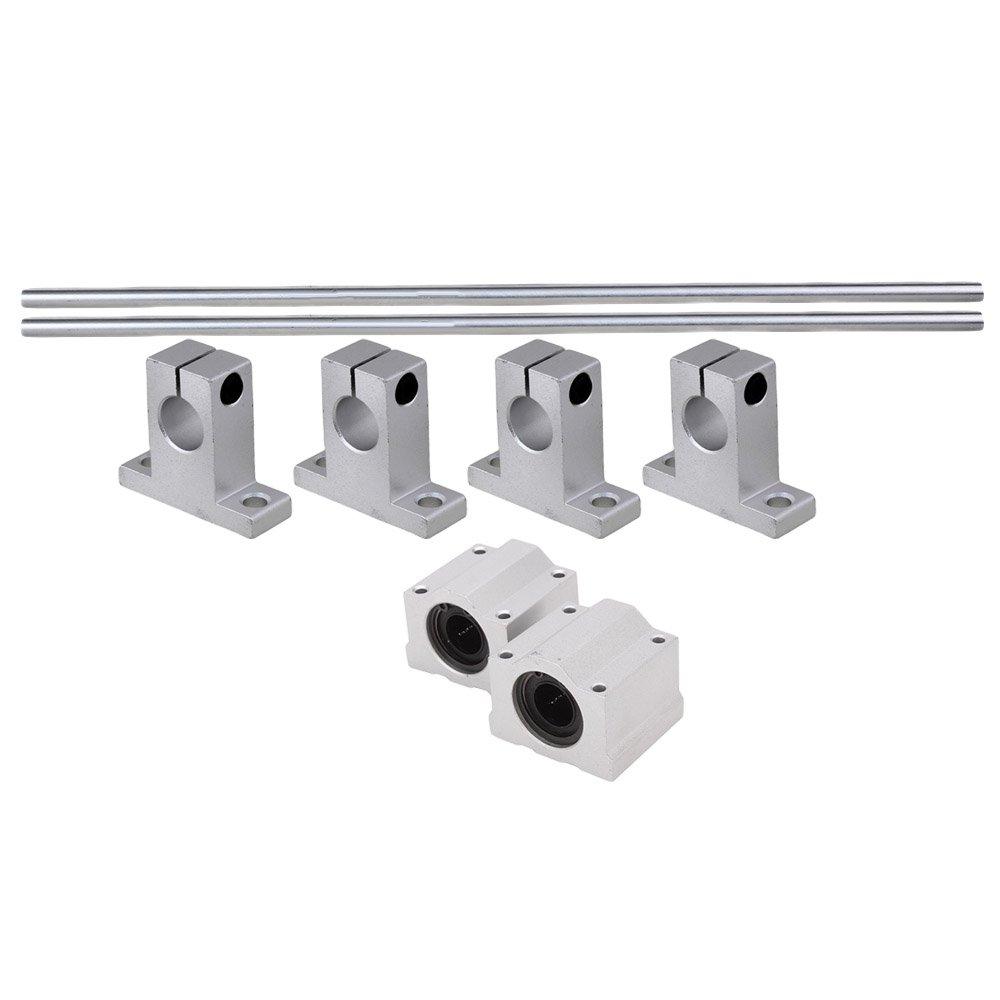 cnbtr 2x OD12x400mm Schacht Optisch Axis /& Geradelinig Schiene Suppor W/älzk/örper f/ür