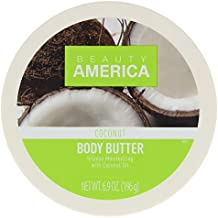 Beauty America Intense Moisturizing Body Butter With Coconut Oil, 6.9 Ounce