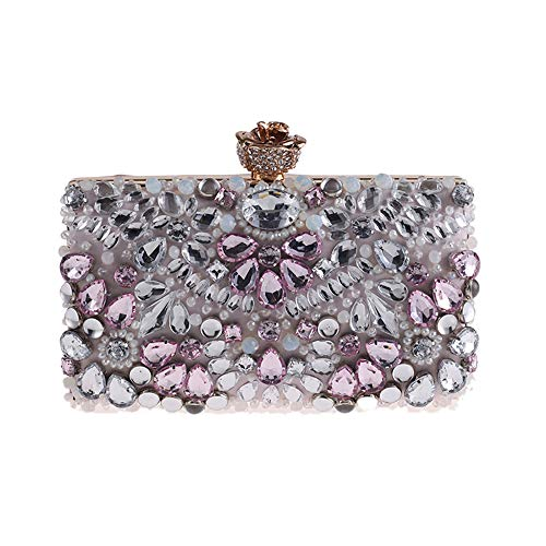 - Women's Noble Crystal Beaded Evening Bag For formal Wedding Clutch Purse