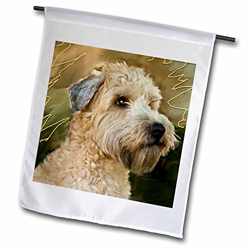 3dRose Dogs Soft Coated Wheaten Terrier - Soft Coated Wheaten Terrier Portrait - 12 x 18 inch Garden Flag (fl_4808_1)
