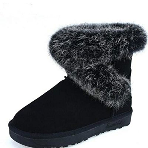 Womens Boots Ladies Synthetic Suede Fur Lined Winter Warm Snow Comfort Shoes 7 6n0vcriU