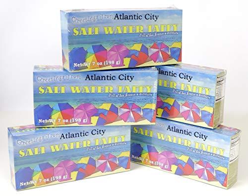 (Atlantic City, Salt Water Taffy Candy Souvenir Gift. 5 box set.)