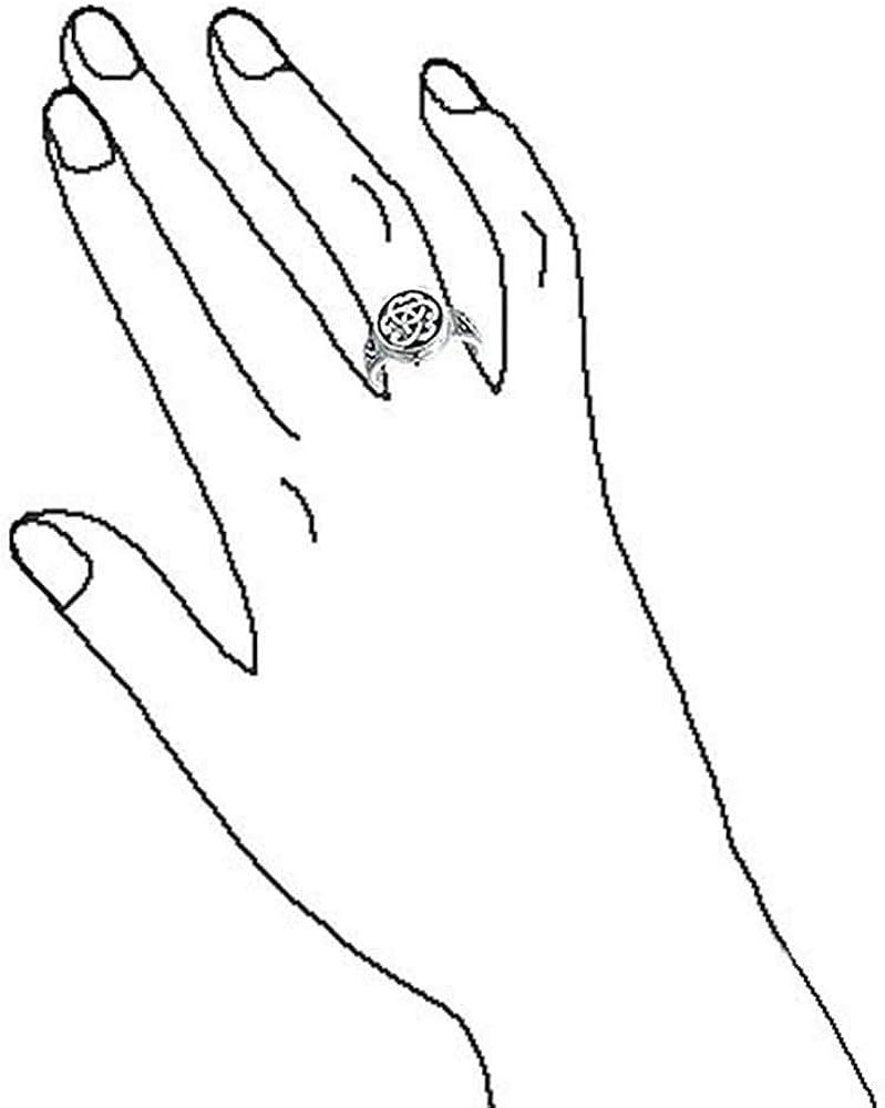 Des Couples Triquetra Irish Celtic Knot Trinit/é M/édaillon Signetl Anneau Pour Les Femmes Pour Les Hommes Argent 925