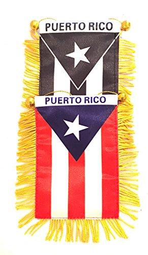 PUERTO RICO Mini rearview mirror mini flag, Boricua pride Puerto Rican flag - Puerto Rico Flag Car