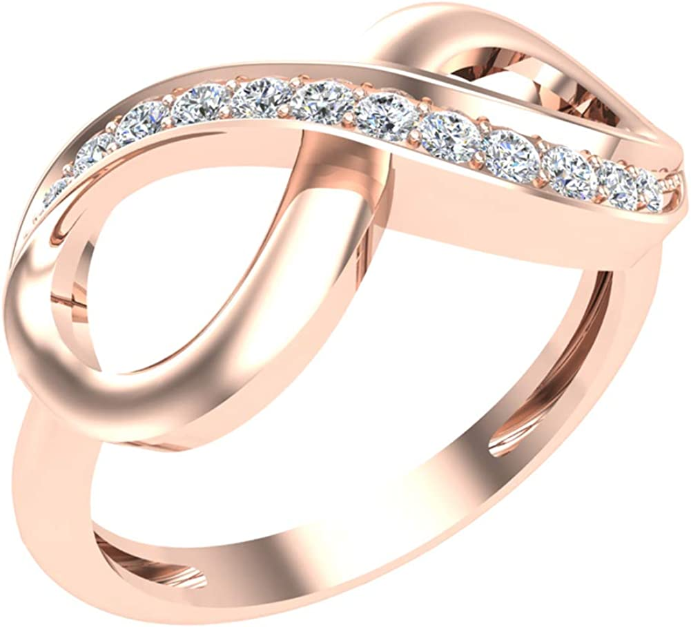 0.15 ct tw Infinity Diamond Ring 14K Gold (G, SI)