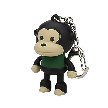 Amazon.com: Suppion - Llavero con diseño de mono de dibujos ...
