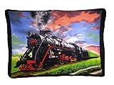 Locomotive Train Steam Engine Scene 50x60 Polar Fleece Blanket Throw