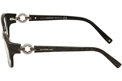 e1642ca45df Montblanc Prescription Eyeglasses - MB0442 005 - Black (54-17-135) at  Amazon Women s Clothing store