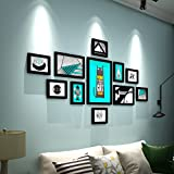XXHDYR European Photo Wall Decoration Photo Frame Wall Simple Modern Creative Photo Frame Hanging Wall Combination Bedroom Photo Wall Photo Wall (Color : Black Photo Frame)