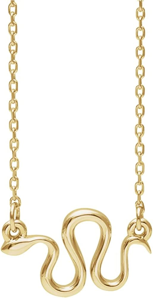 Jewels By Lux 14K Yellow Gold Snake Necklace