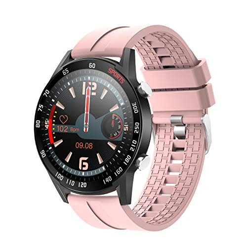 """YoYoFit Smart Watch with Heart Rate,1.4"""" Touch Screen Fitness Tracker with Blood Pressure Blood Oxygen, Waterproof Fitness Smartwatch with Sleep Monitor, Step Counter for Women Gift"""