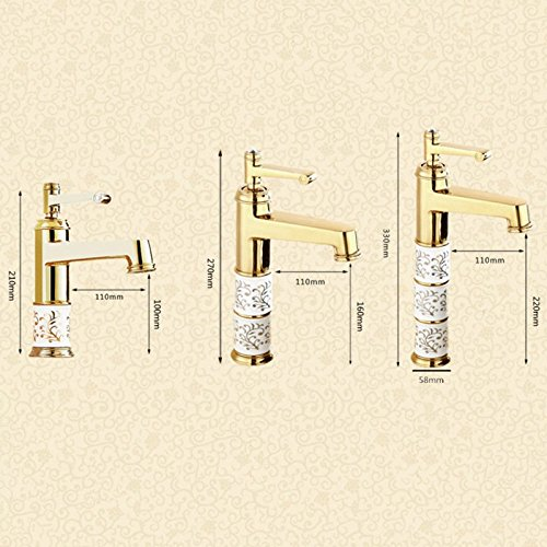 Dimensione : A-1 Vinteen Rubinetto monocomando monoforo Rubinetto Bronzo Antico Caldo e Freddo Antico Rubinetto Acqua-Rubinetto Antico Rubinetto per lavabo Continental Sopra Lavabo da appoggio Lavabo Rubinetto