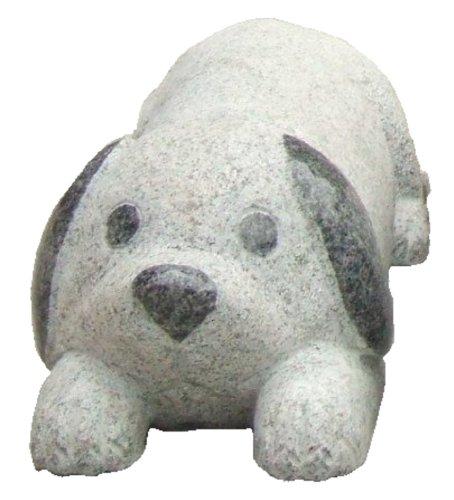 【御影石】グレー犬45cm 置くだけ簡単車止め   B006Y8IUYK