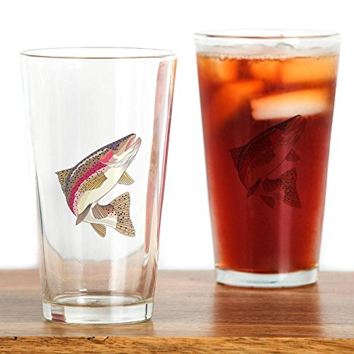 - CafePress RAINBOW TROUT Pint Glass, 16 oz. Drinking Glass