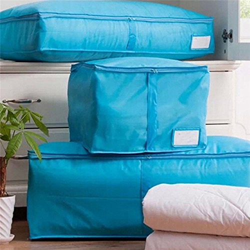 Clothes Quilt Bedding Duvet Zipped Handles Laundry(Blue)(S) - 6