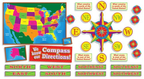 United States Of America Map Bulletin Board Set DigiSHOP Shopping