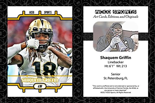 Shaquem Griffin 2017 2018 ACEO Sports Art Style Football Card - UCF Central Florida Knights