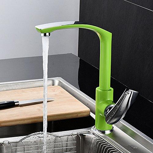 LHbox Tap Feldspritze Auswurfkrümmer Küche Wasserhahn Farbe Farbe Farbe Kreative Küche Wasserhahn weiß heiße und kalte Teller Waschbecken Spülen Waschbecken Wasserhahn Schwarze und Größe Farbe 2266bb