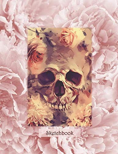 Sketchbook: Boho Chic Skull - A Halloween Themed Large Notebook with 100 Blank Pages, Halloween Motifs Inside (8,5 x 11 inches)]()