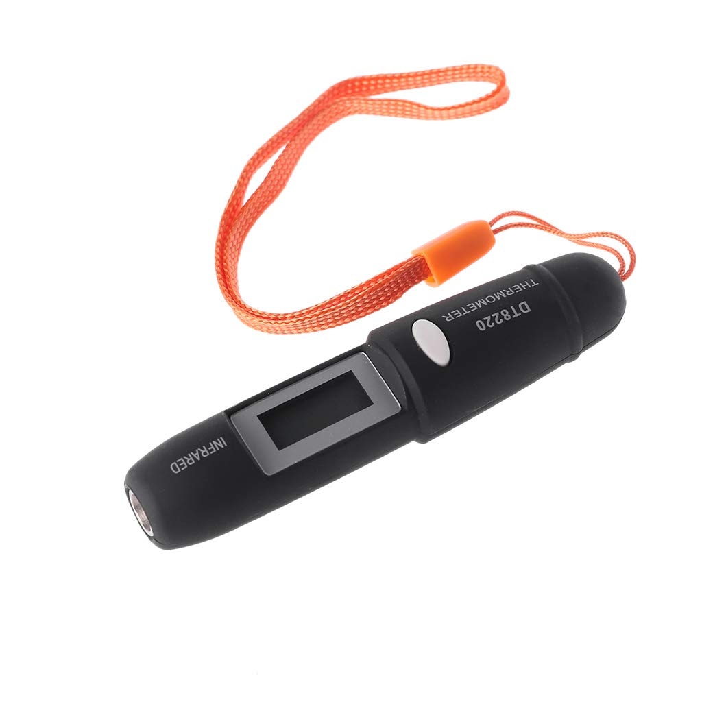 Lunji DT8220 Stift Typ Mini Infrarot Thermometer IR Temperaturmessung LCD Display Messwerkzeuge F/ür Den Heimgebrauch