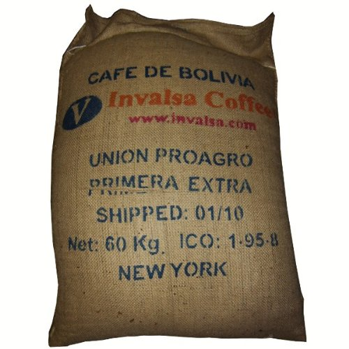 Mere large, used, strong burlap coffee bag with free coffee sample