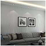 Bloss Wallpaper Modern Minimalist Luxury Gorgeous Wall Covering Paper Decoration Stripe Wall Paper for Home Hotel Office Metallic Silver Grey