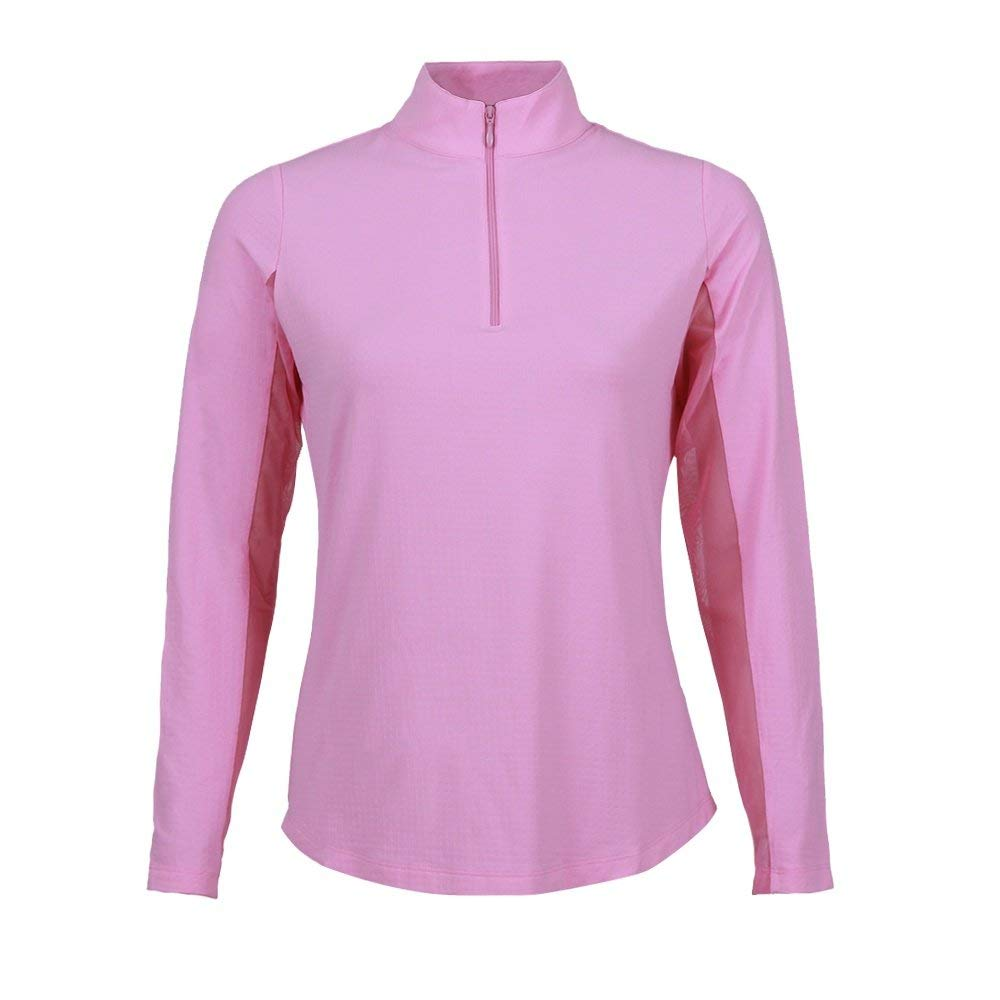 Solid Mock Neck Top - 80000 (XS, Candy Pink) by IBKUL