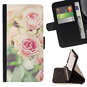Jordan Colourful Shop - Ruses Focus Flowers Green Field Summer For HTC One M8 - Leather Case Absorci???¡¯???€????€?????????