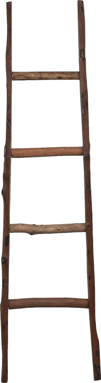Scala in legno decorativa - Portasciugamani - Ideale per Bagno, Camera e altri ambienti - 40x8x150 cm Biscottini