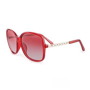 HONEY Retro polarisierte Sonnenbrille für Frauen, UV-Schutz, lassen Konturen des Gesichts mehr perfekt ( Farbe : B )