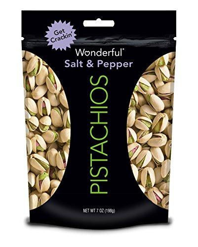 Wonderful Pistachios, Salt and Pepper, 7 Ounce Bag