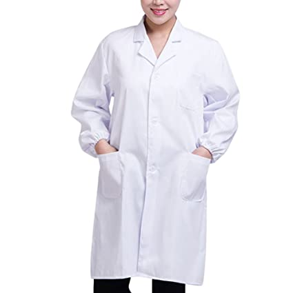 WHITE ADULT DOCTOR/'S DOCTORS SCIENTIST LAB COAT HALLOWEEN FANCY DRESS COSTUME