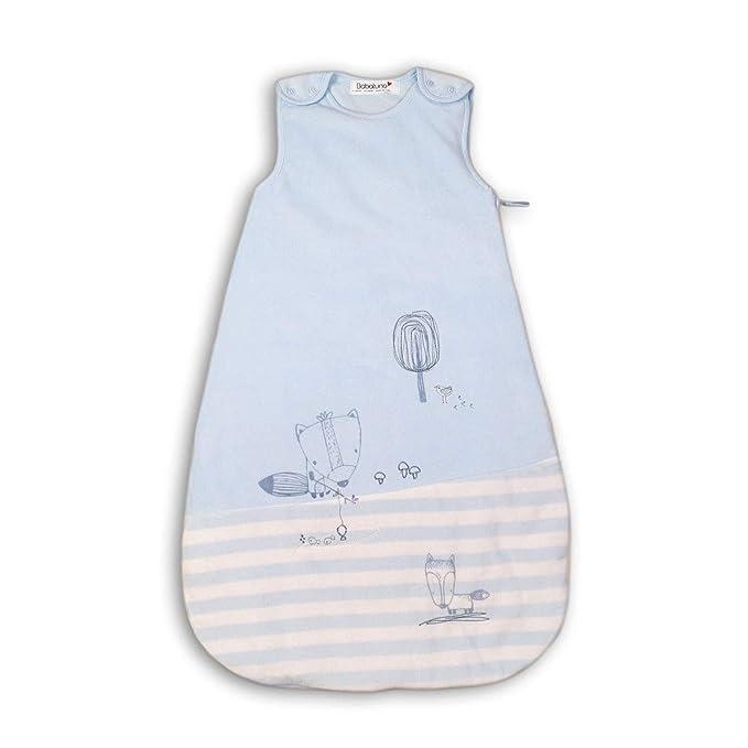 Baby Boys Blue Velour Sleeping Bag 3-Tog 0-6 Months