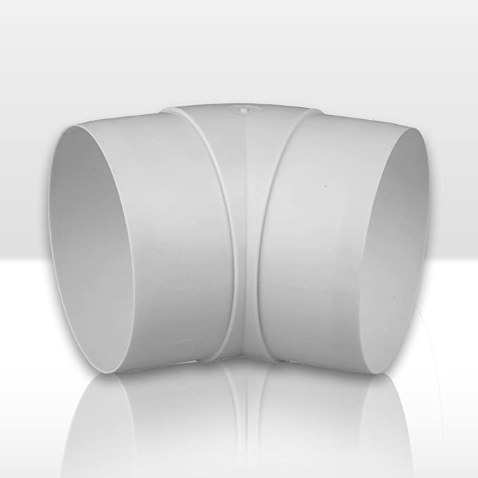 Fibo24 /Ø 100 125 mm Bogen 45/° Durchmesser: 100 mm Winkiel 45/° Abluft-Rohr