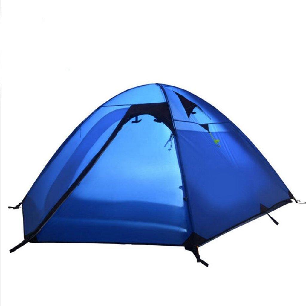 Jingzou Outdoor double double regen Camping Klettern Zelt 3-4 Aluminiumstab Zelt ?60?180?60?x210 cmX120CM